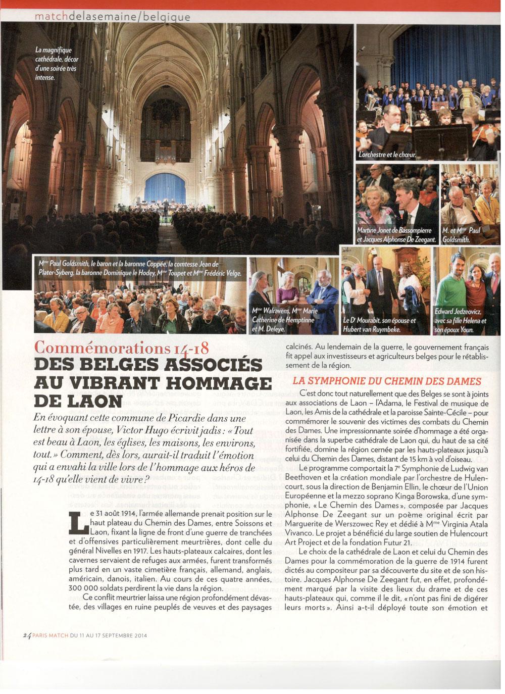 Des Belges associés au vibrant hommage de Laon